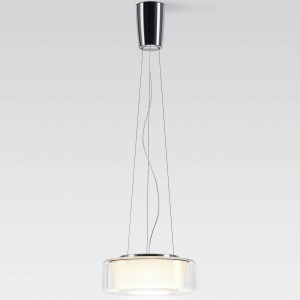 Curling Rope klar / konisch opal LED Pendelleuchte