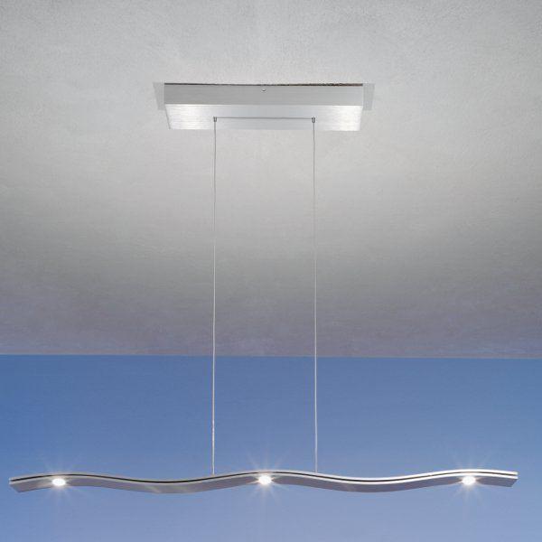 Fluid Pendelleuchte 5 Falmmig Aluminium matt